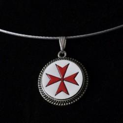 Croix de Malte Rouge Blanc...