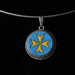 Croix de Malte Jaune Bleu...
