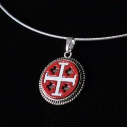 Croix de Jérusalem Blanc...