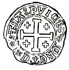 Monnaie féodale à la Croix de Jérusalem
