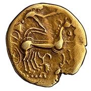 Triskele sur un statere d'or des Eduens